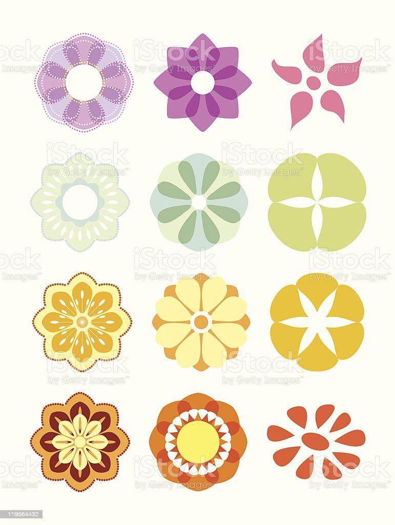 Flower set. royalty-free stock vector art