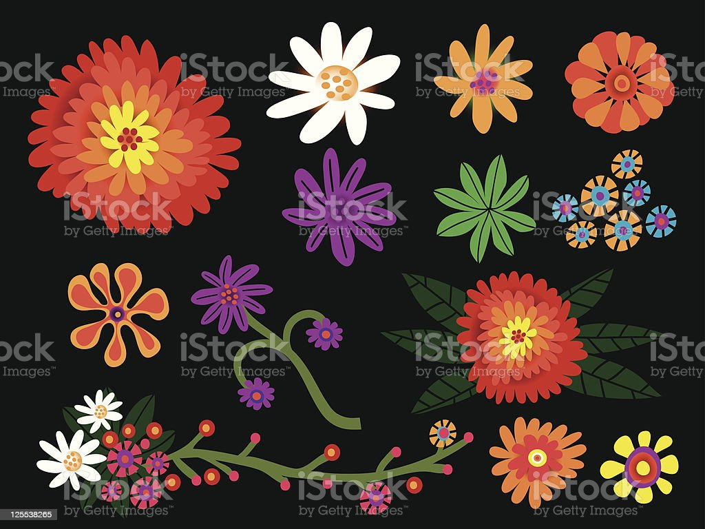 Flower set royalty-free stock vector art