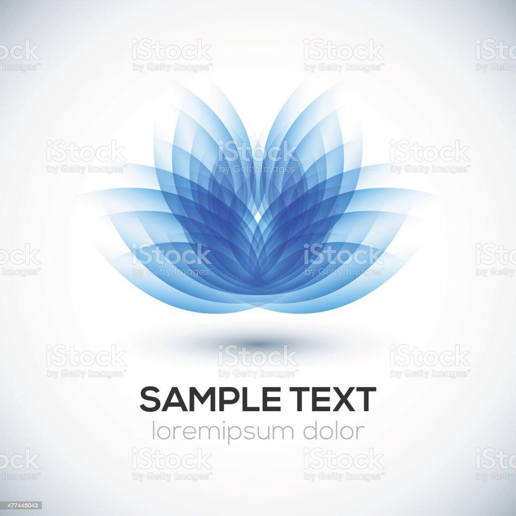 Flower shape. Lotus. royalty-free stock vector art