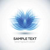 3D flower shape. Lotus. Vector illustration for your design