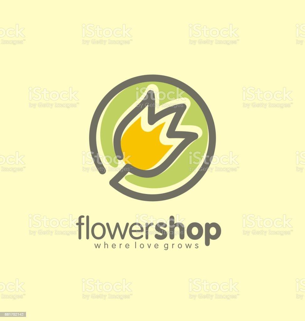 Concept de design fleur Boutique logo creative - clipart vectoriel de Abstrait libre de droits