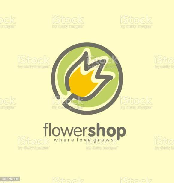 Concept De Design Fleur Boutique Logo Creative Vecteurs libres de droits et plus d'images vectorielles de Abstrait
