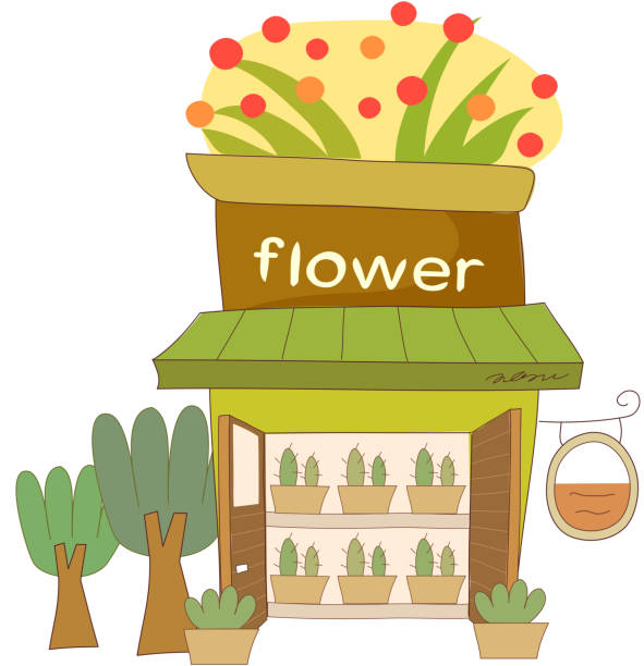 Flower Shop Clip Art, Vector Images & Illustrations - iStock