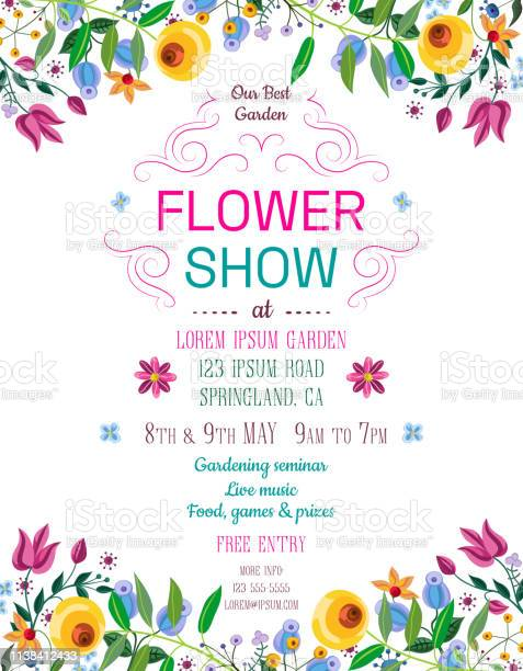 Flower show announcing poster template vector id1138412433?b=1&k=6&m=1138412433&s=612x612&h=jdzcue6x8ukf6pktf0rmvz57oq59f2gs59 7ueivwvc=