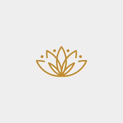 flower simple luxury icon design