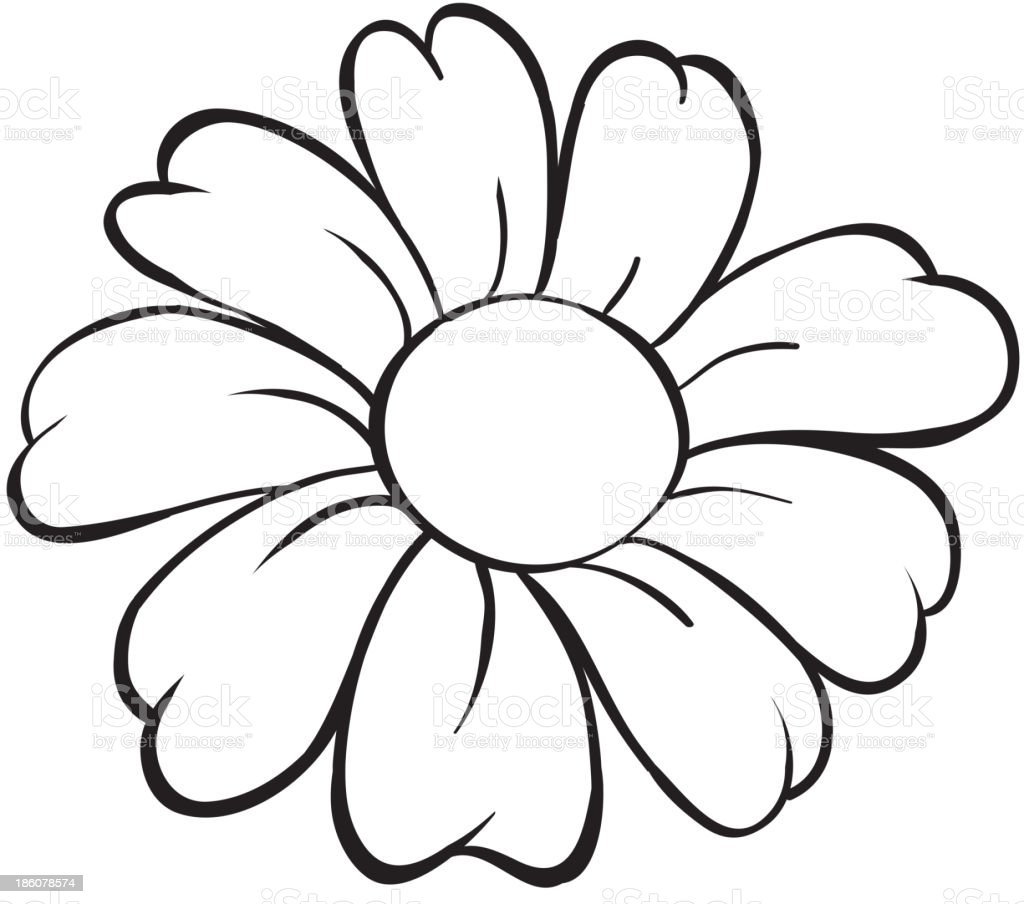 flower sketch royalty-free stock vector art
