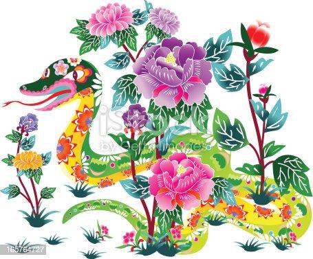 istock Flower Snake 165764727