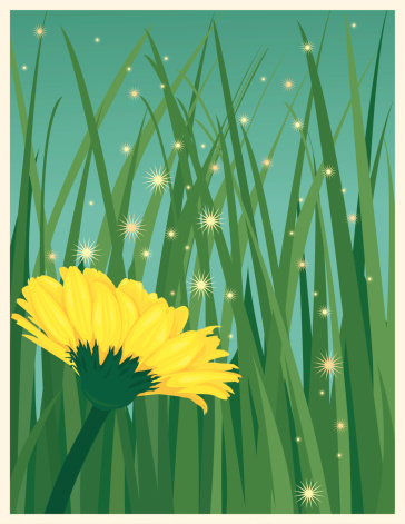 Expansão Do Pólen De Flores Com O Vento - Arte vetorial de stock e mais imagens de Amarelo