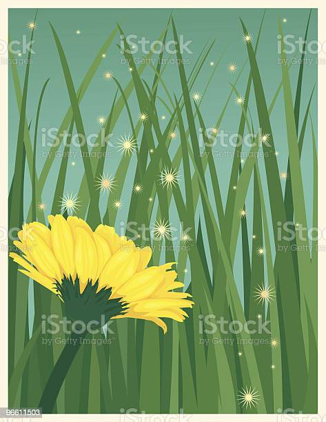 Flower Spreading Pollen With The Wind Stock Illustration - Download Image Now