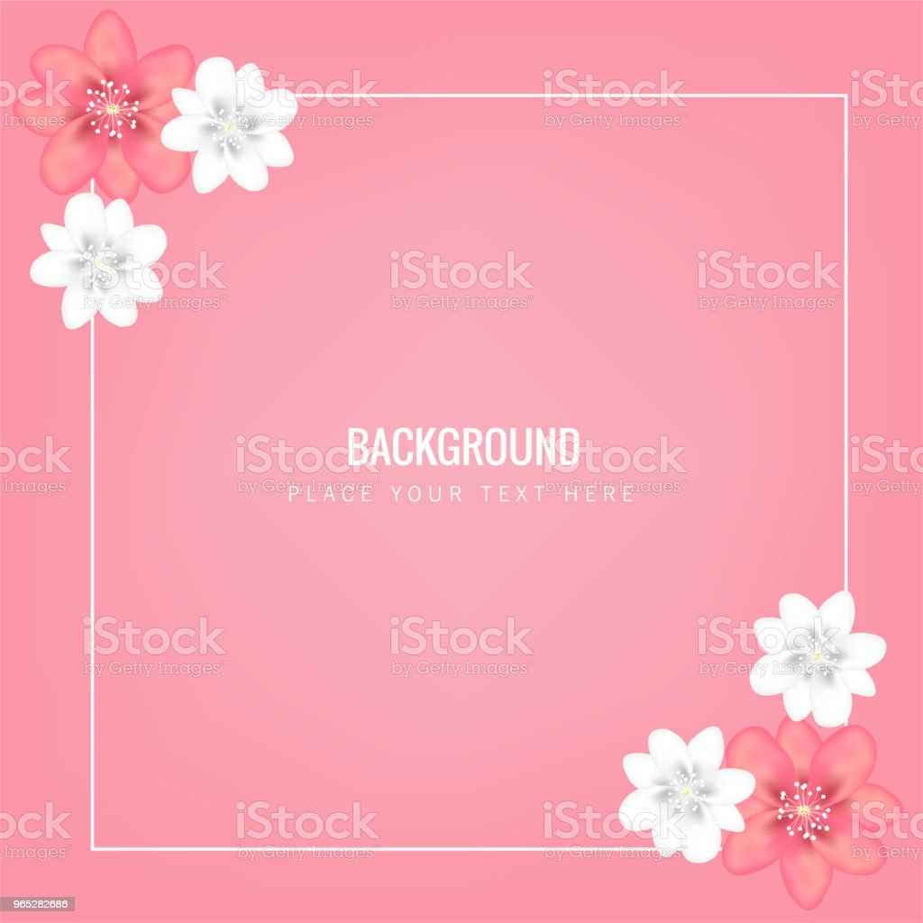Flower Square Frame Pink Background Vector Image royalty-free flower square frame pink background vector image stock vector art & more images of anniversary