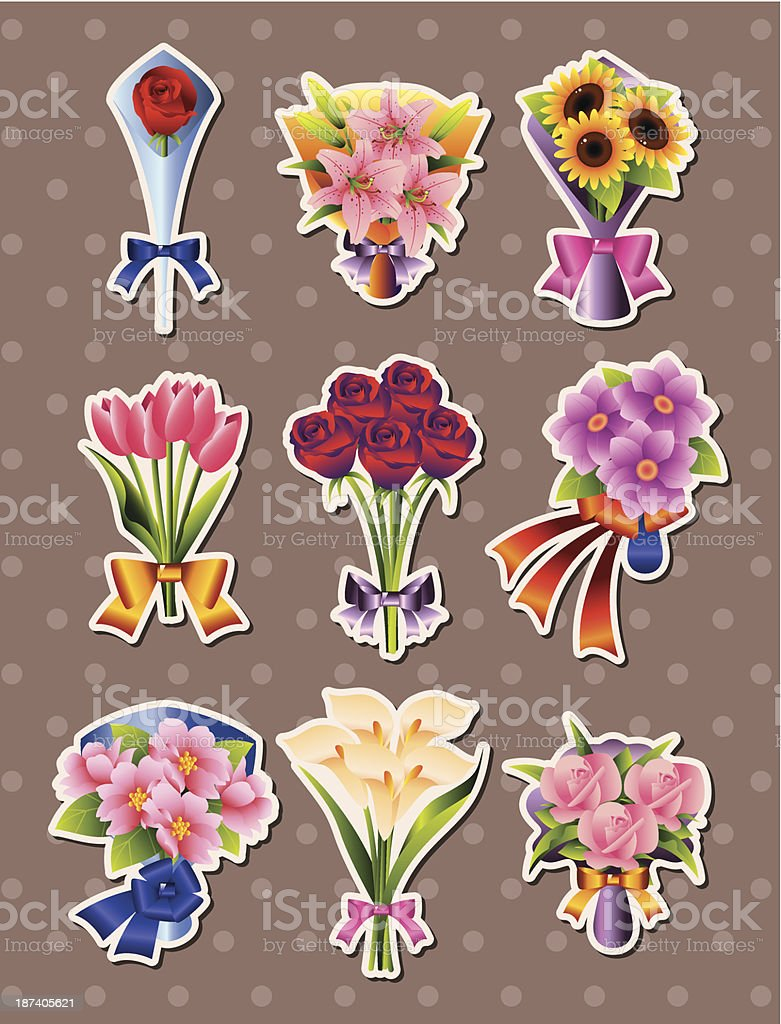 flower stickers royalty-free flower stickers stock vector art & more images of azalea