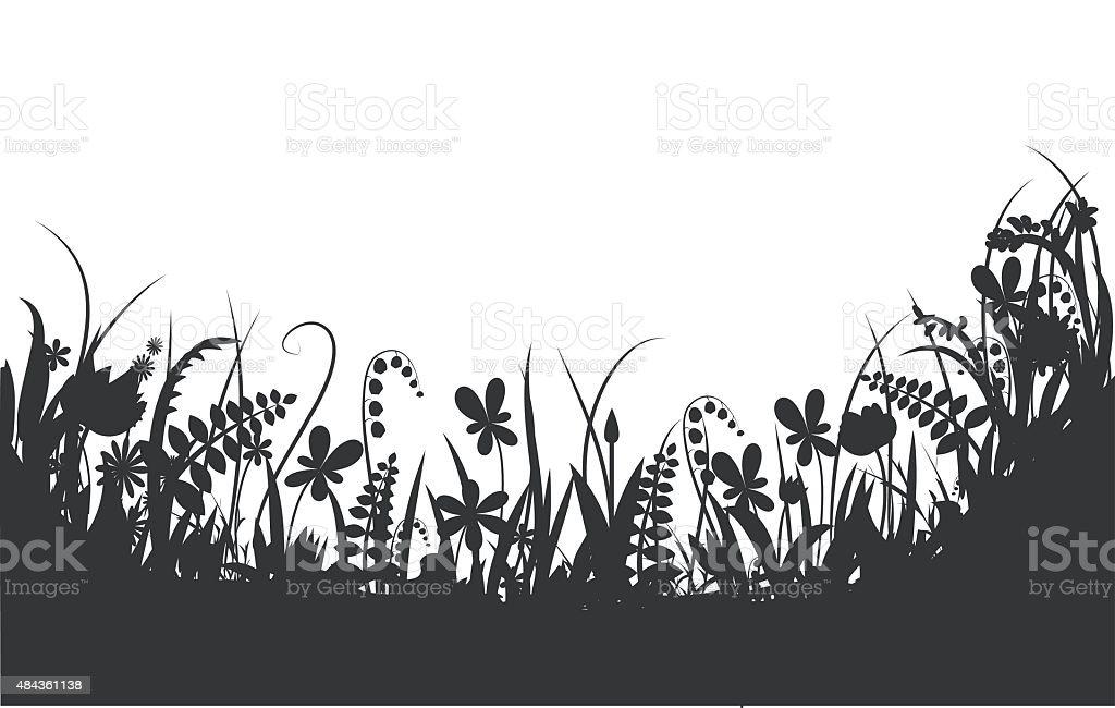 flower story vector art illustration