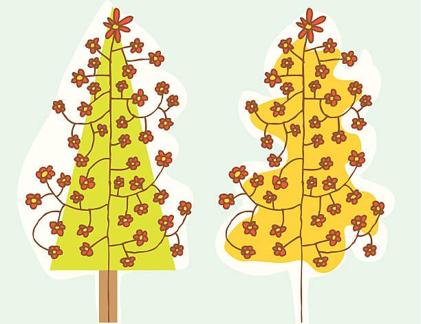 Flower Tree vektorkonstillustration