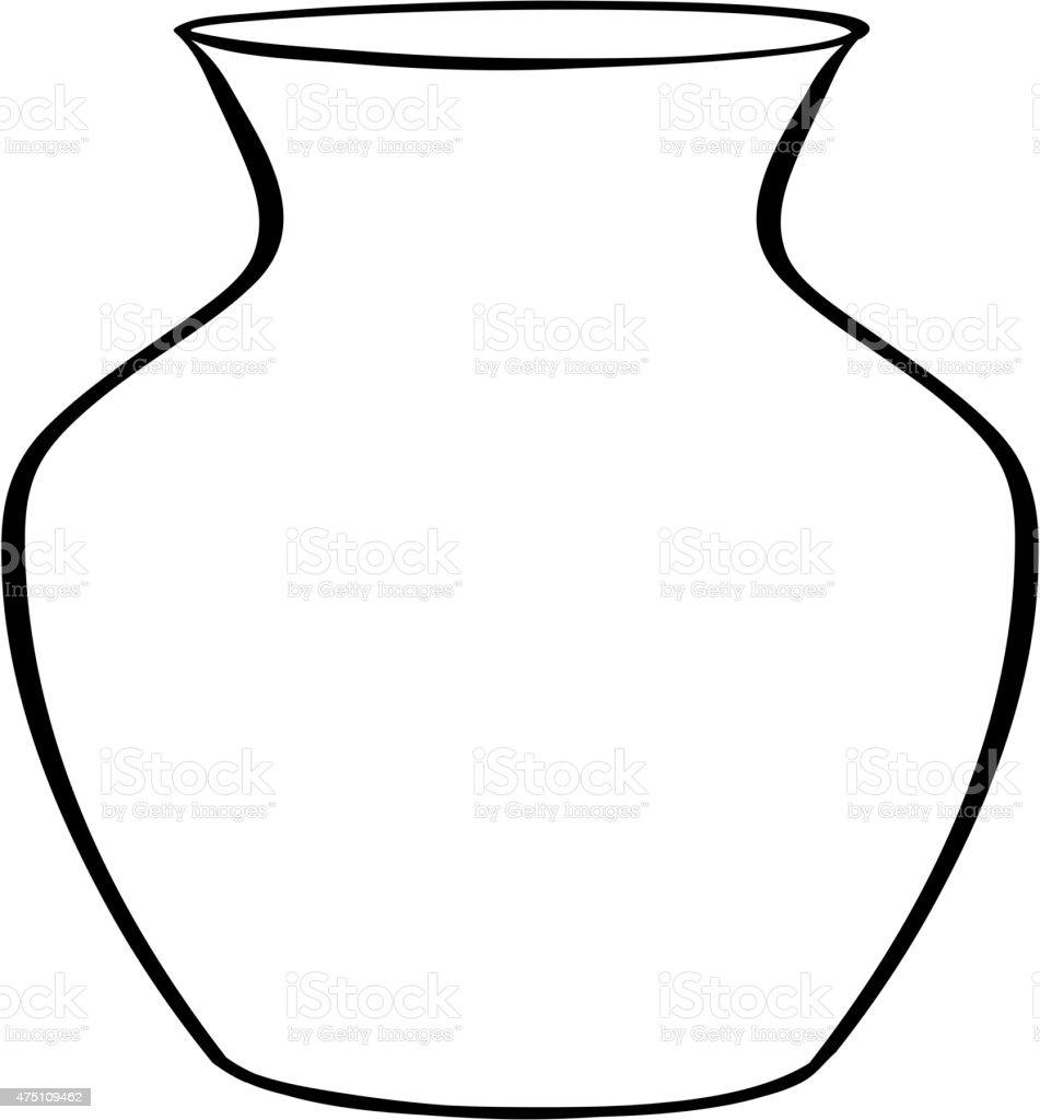 Flower Vase Stock Vector Art More Images Of 2015 475109462 Istock