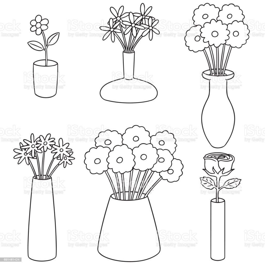 Flower Vase stock vector art 691481424   iStock