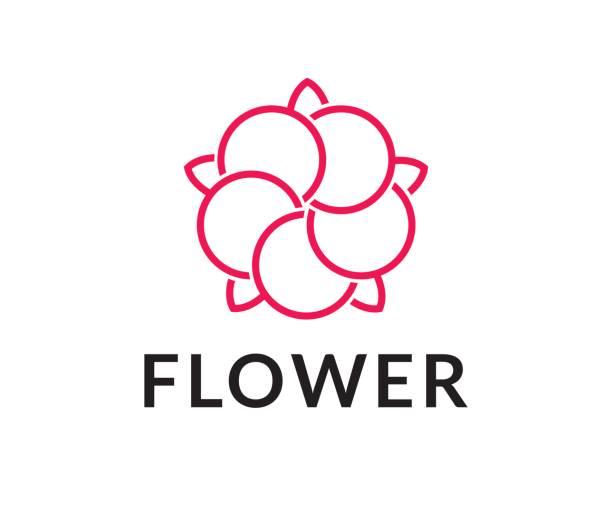 Flower vector icon flower, cotton, lotus, icon cottonwood tree stock illustrations