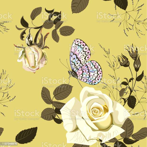 Flower vector illustration with beautiful yellow rose and butterfly vector id1157346976?b=1&k=6&m=1157346976&s=612x612&h=2m u31tlhzhwgp3k3eqh94smfbhvro ftdepl0ai1mc=
