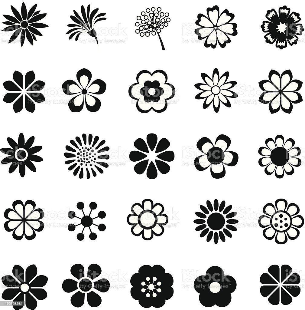 flower vector set royalty-free flower vector set stock illustration - download image now