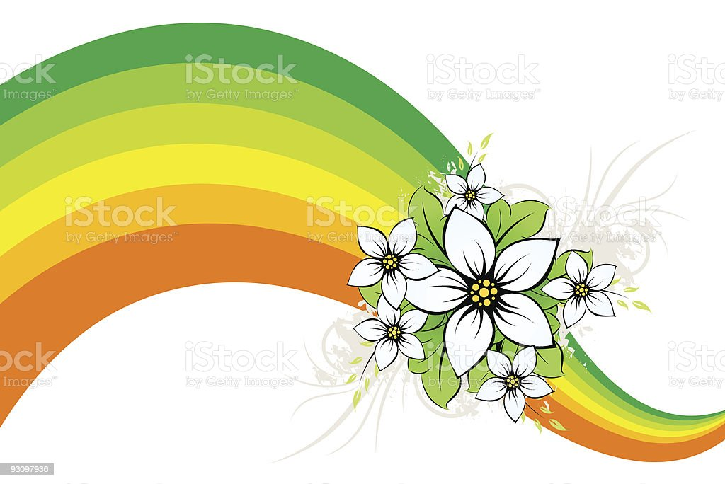 Flower with color wave royalty-free flower with color wave stock vector art & more images of abstract