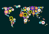 Flower World Map
