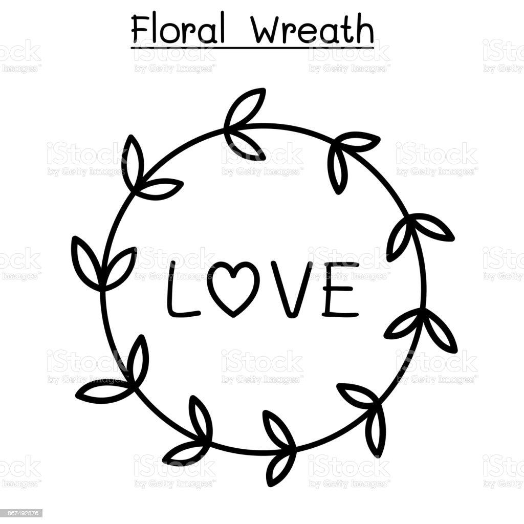 Fleur Couronne Vector Illustration Graphisme Cliparts Vectoriels