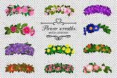 istock Flower wreaths set 965385036
