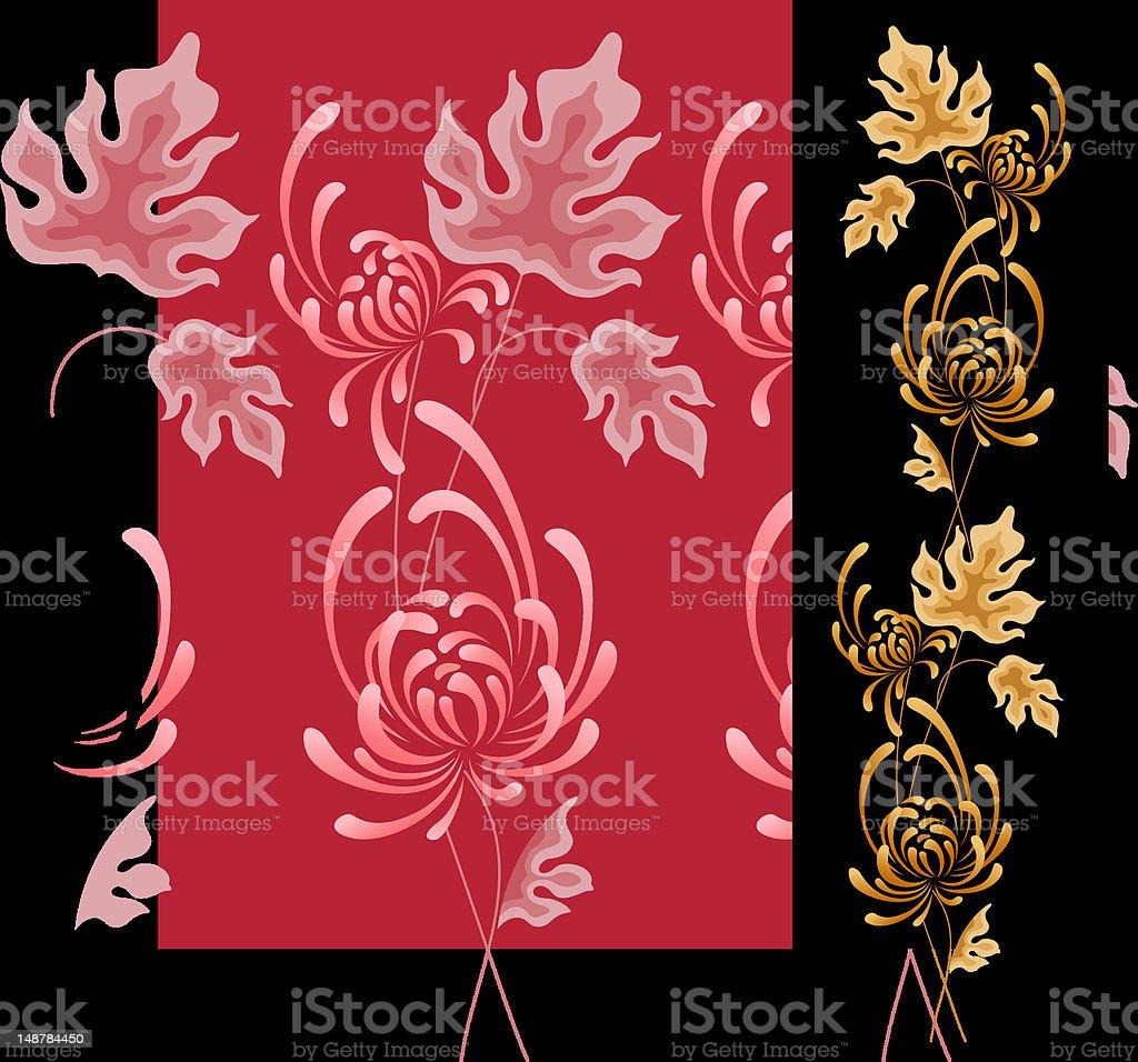 Flowerage (vector) vector art illustration