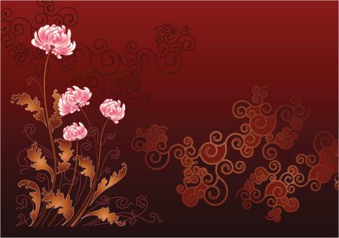 Flowerings chrysanthemums