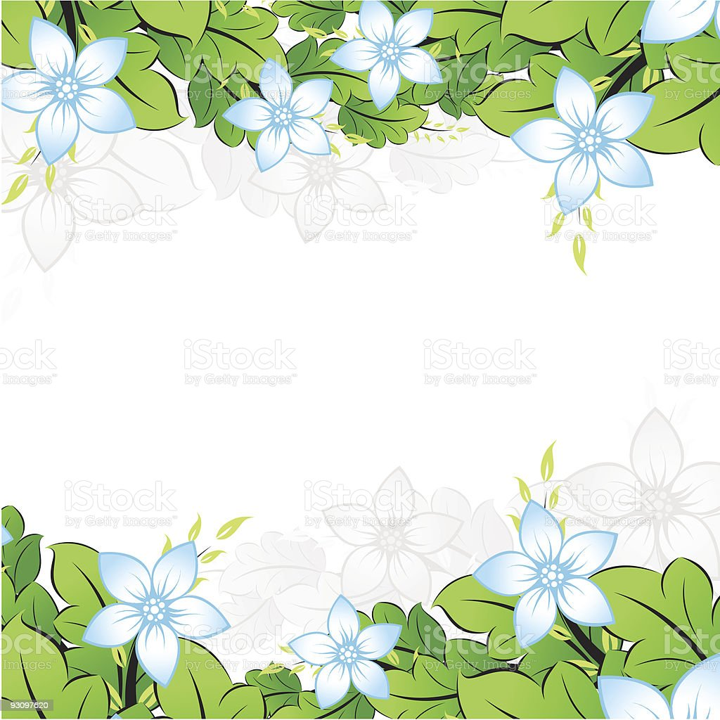 Flowerl frame royalty-free flowerl frame stock vector art & more images of abstract