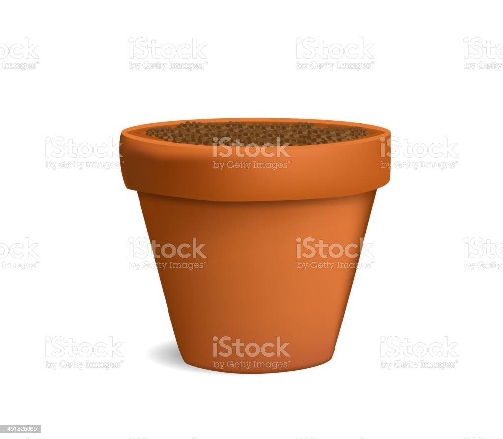 flowerpot with ground vector illustration vector art illustration