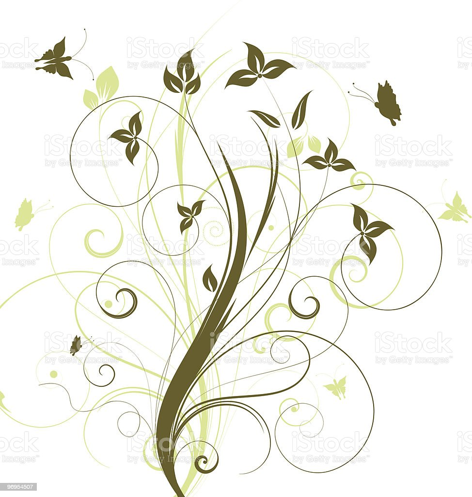 Flowers and butterflies royalty-free flowers and butterflies stock vector art & more images of abstract