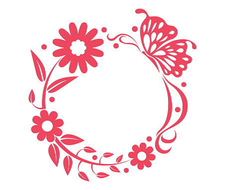 flowers and butterfly graphics