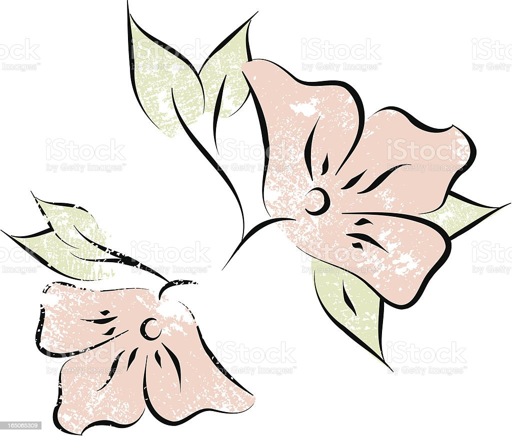 Flowers and leaves royalty-free stock vector art