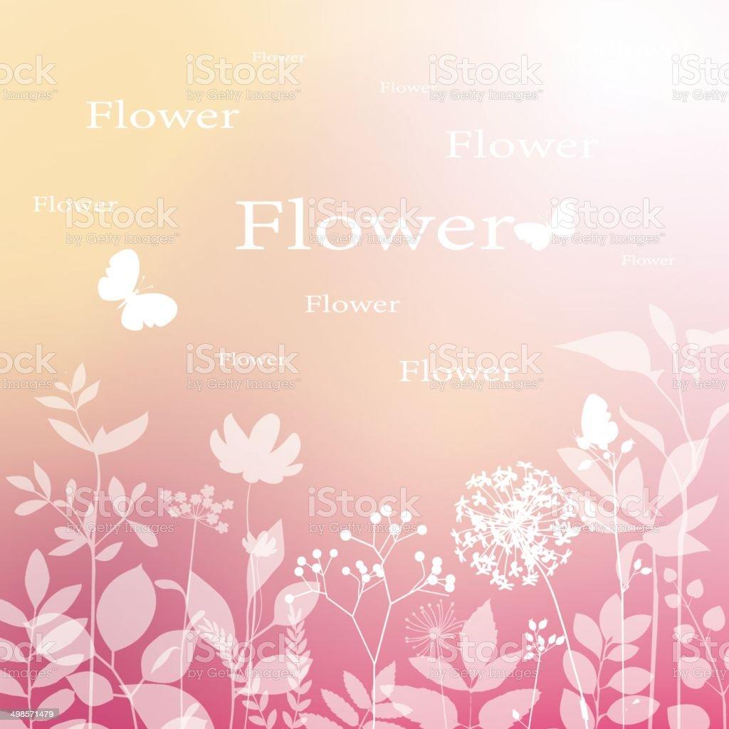 flowers backgroud vector art illustration