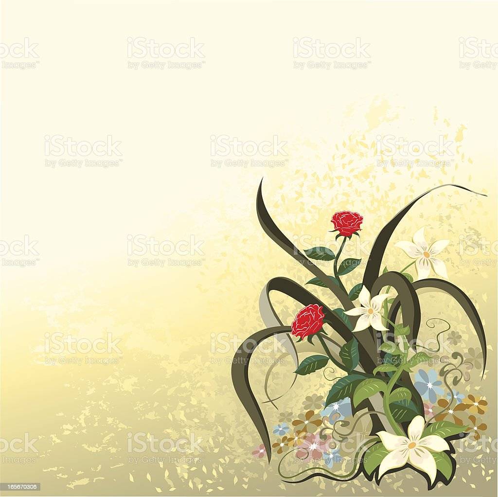 flowers background copy space vector art illustration