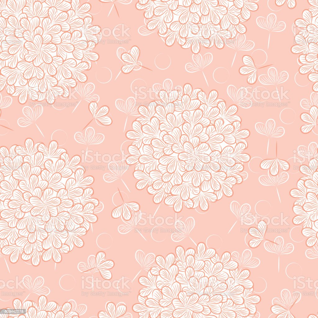 Flowers Background Floral Seamless Pattern Pink Floral Background