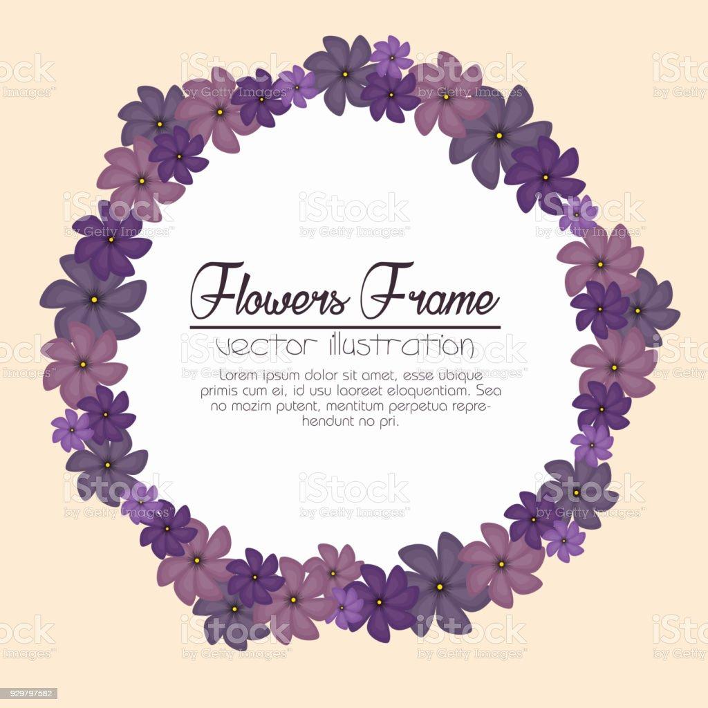 Schönen Rahmen Dekorative Blumen Stock Vektor Art und mehr Bilder ...