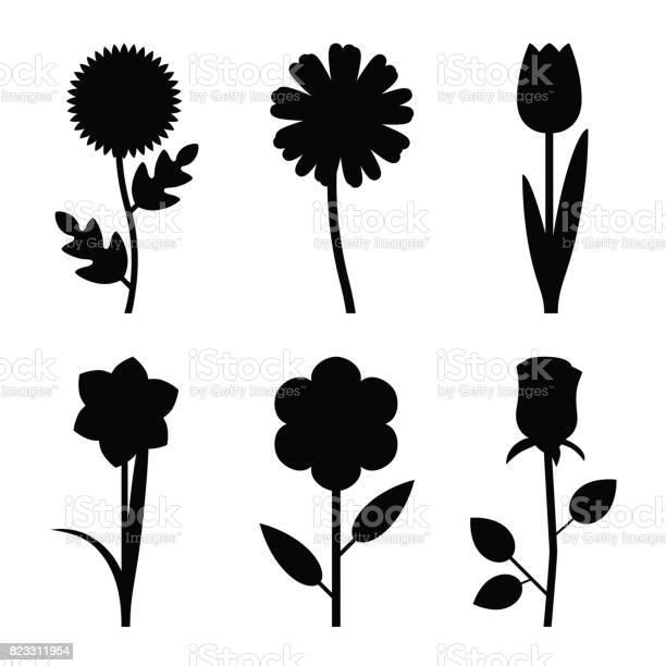Flowers black silhouettes vector id823311954?b=1&k=6&m=823311954&s=612x612&h=xlroujaifkluvmduhvez3u heft3umxblcxzjlxqil4=