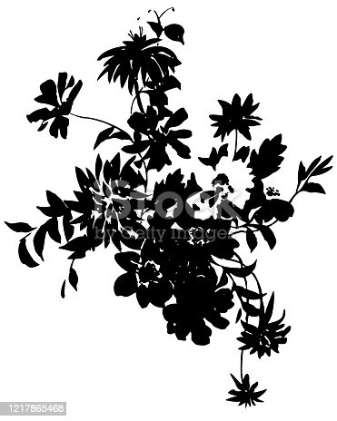 istock flowers bouquet made in ink tattoo style 1217865468