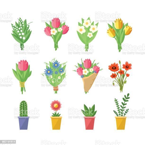 Flowers bouquets set vector id662191814?b=1&k=6&m=662191814&s=612x612&h=ghxo3q8betbt9com4xhujxv06biq0su7huwxpyv13 i=