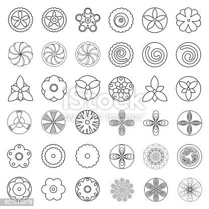 istock conjunto de elementos de diseño de primavera de estilo ...