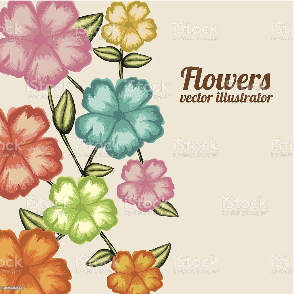 Flowers Design vector art illustration