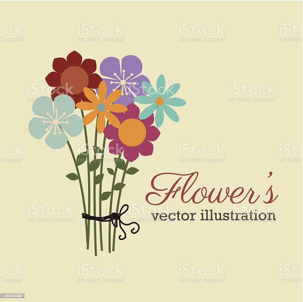 flowers design vector art illustration