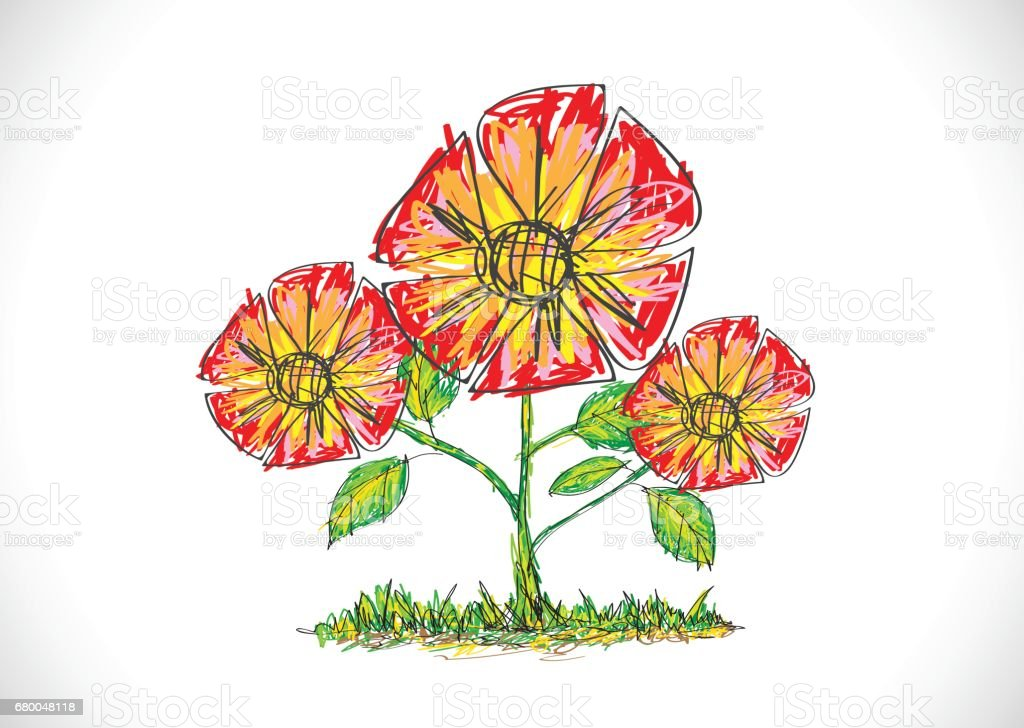 Blumendesign Vektor Illustration 680048118 Istock