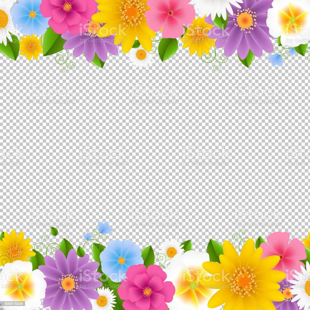 花の背景が透明なフレームします - アメリカ合衆国のベクターアート素材
