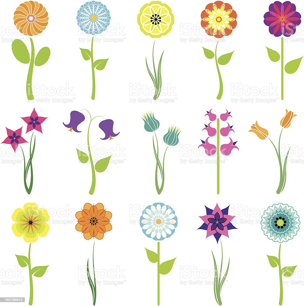 flowers icon set royalty-free flowers icon set stock vector art & more images of blue