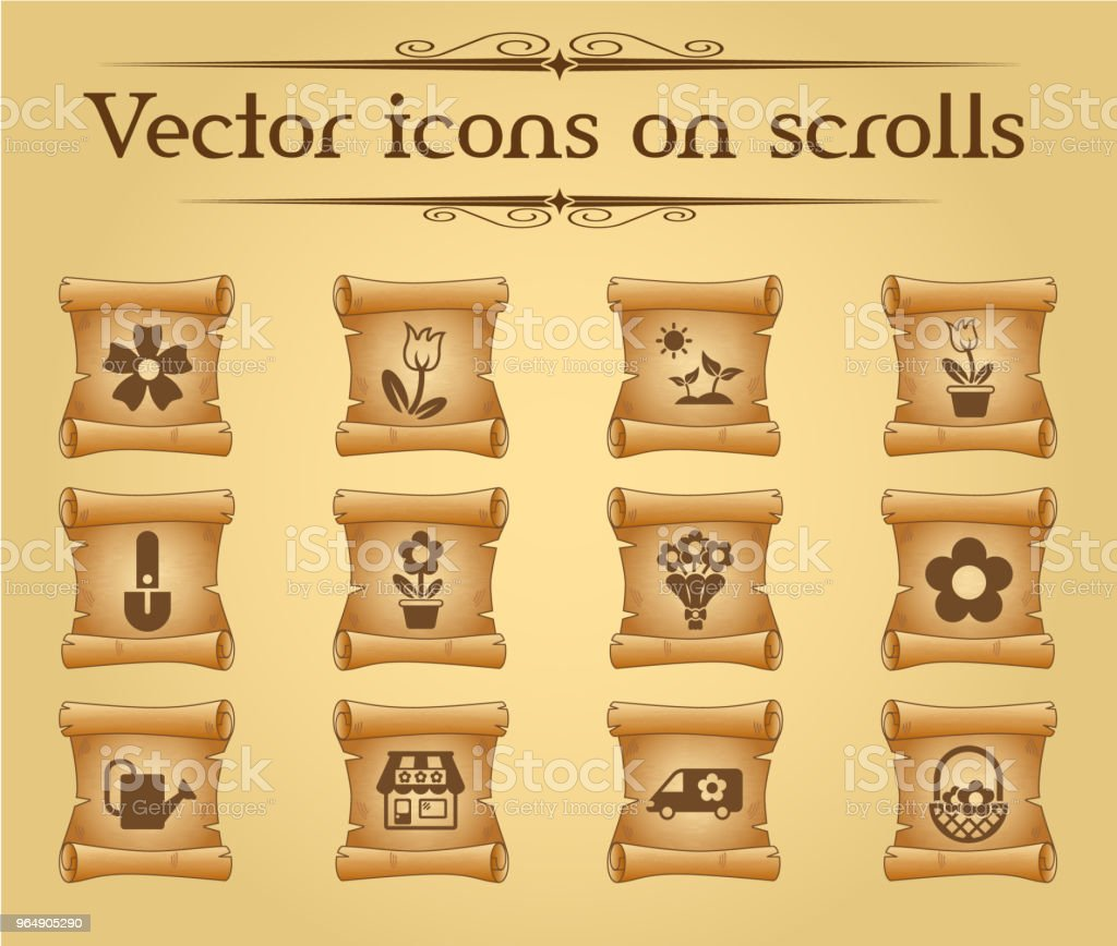 flowers icon set royalty-free flowers icon set stock vector art & more images of antique