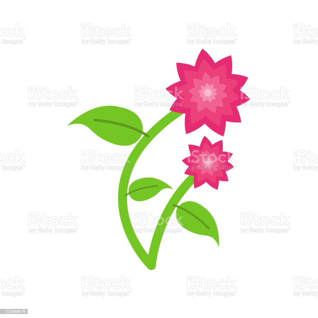 Flowers Icon Vector Sign And Symbol Isolated On White Background