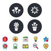 istock Flowers icons. Bouquet of roses symbol. 841364462