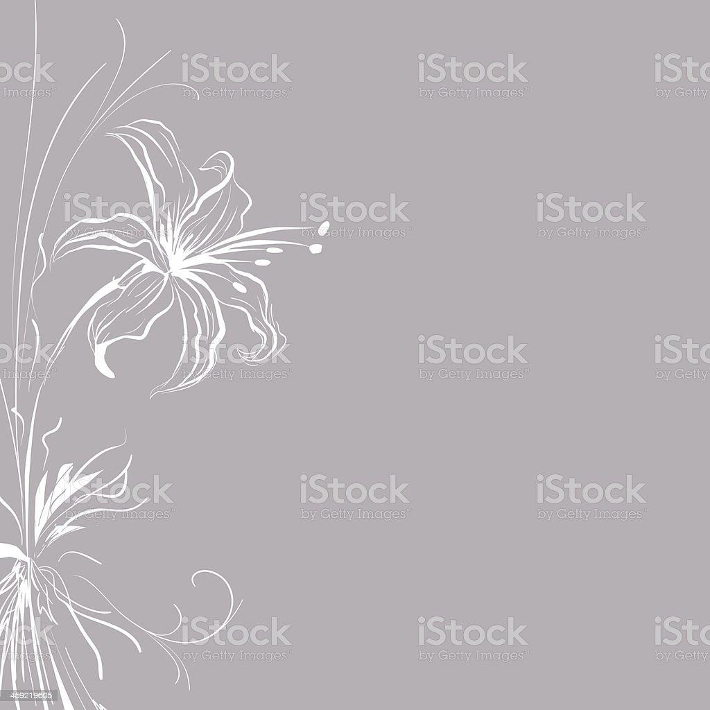 Flowers illustration in Silver vector art illustration